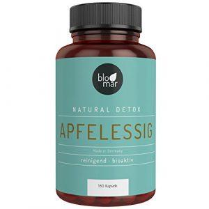 Apfelessig Kapseln – hochdosierte 3-Monatskur natürliches Detox – Premium Produkt Made in Germany – 180 Kapseln