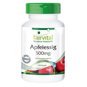 Apfelessig, 500mg pro Kapsel, 2000mg Tagesdosis, vegan, natürlich, 120 Kapseln, Monatspackung – regt die Verdauung und Fettverbrennung an, für ein gutes Immunsystem, Detox-Tipp