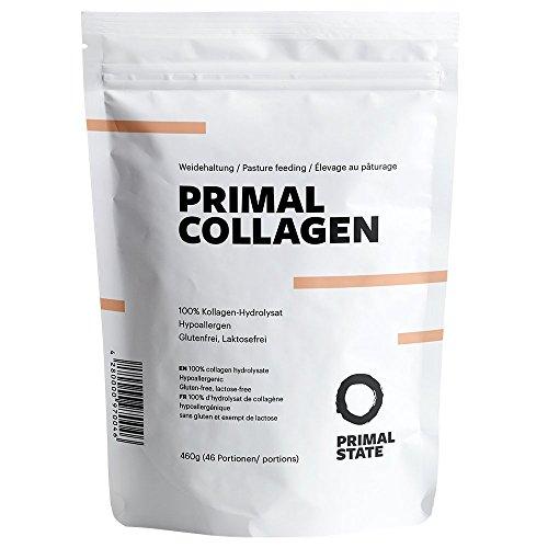 PRIMAL COLLAGEN Protein | Kollagen Hydrolysat Peptide | Pulver aus Weidehaltung | Typ I und Typ II | Lift Drink | Laborgeprüft | Geschmacksneutral - 460g