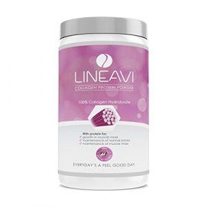 Kollagen Proteinpulver von LINEAVI • 100% Kollagen Hydrolysat • für Bindegewebe, Gelenke, Muskeln • frei von Hormonen und Antibiotika • in Deutschland hergestellt • 410g Collagen