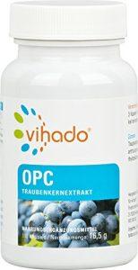 Vihado Traubenkernextrakt OPC – Kapseln Premium aus reifen roten Weintrauben, 110 Kapseln, 1er Pack (1 x 16,5 g)
