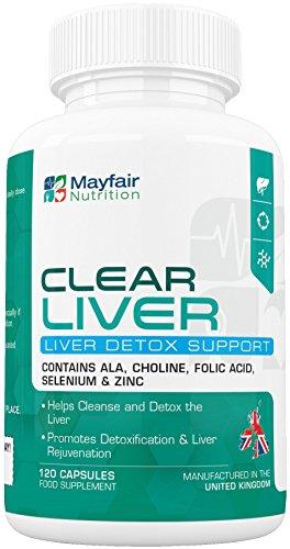 Leberreinigung | Entschlakung und Detox mit Cholin, Selen und Kale Grünkohl | mit Selen für eine bessere Schilddrüsen-Funktion | 120 Kapseln, ausreichend für 2 Monate