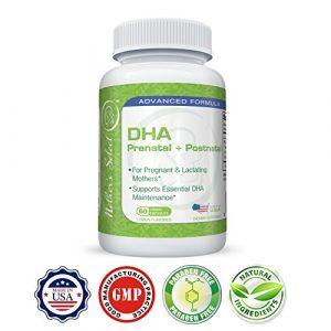 Pränatales DHA – Mother's Select DHA Pre-Natal – EPA Fischöl, 60 Softgelkapseln, Liquid-Kapseln – Zitronengeschmack – Bietet essentielle Fettsäuren für Schwangere und Stillende Frauen in einer Kapsel pro Tag!
