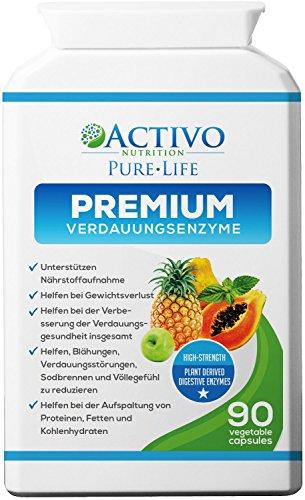 Premium Verdauungsenzyme bei Verstopfung für die gesunde Verdauung - Mit Probiotika & Makzyme Pro™ Blend gegen Blähungen und Völlegefühl für Männer und Frauen