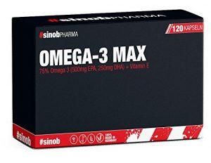 BlackLine 2.0 #sinobPHARMA Omega-3 essentielle Fettsäuren Supplement Mineralien Vitamine Fitness Sport 120 Kapseln