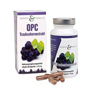 OPC Kapseln Hochdosiert – Mit Zertifikat – OHNE Künstliches Vitamin C – 500mg Traubenkernextrakt – 350mg Reines OPC Pro Vegane Kapsel – 2 Monatsvorrat – Made in Germany