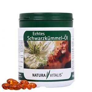 Echtes Schwarzkümmelöl / 650 Softgels / Essentielle Fettsäuren / Kaltgepresst / Natura Vitalis