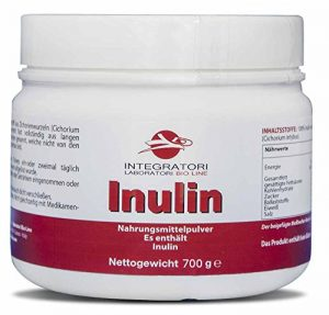 INULIN – Nahrungsmittelpulver Es enthält 100% Inulin aus Zichorienwurzeln (Cichorium intybus) – 700 g