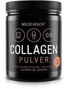 WoldoHealth Kollagen 100% Protein reines Hydrolysat Collagen Pulver geschmacksneutral leichtlöslich auf Basis von Rindern Peptides Lift Drink 500g