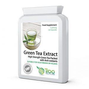 Grüntee-Extrakt – Green Tee – 12.480 mg 90 Kapseln – Das stärkste Grüntee-Ergänzungsmittel auf dem Markt