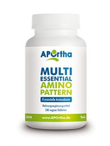 APOrtha Multi essential Amino Pattern – 8 essentielle Aminosäuren – 240 vegane Tabletten