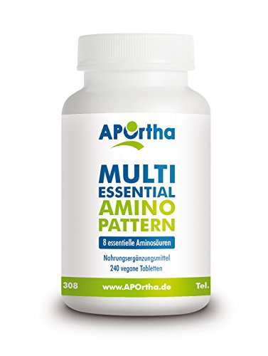 APOrtha Multi essential Amino Pattern - 8 essentielle Aminosäuren - 240 vegane Tabletten