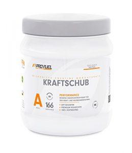 Hochwertiges Creatin Monohydrat Pulver für Muskelaufbau | Kreatin-Pulver zur unterstützung im Kraftsport & Bodybuilding | Vegan, Geschmacksneutral | PROFUEL® KRAFTSCHUB (Creapure) 500g Pulver