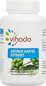 Vihado Grüner Kaffee Kapseln – reiner grüner Kaffee Extrakt hochdosiert, 100 Kapseln, 1er Pack (1 x 33,5 g)