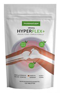 HYPERFLEX+ Einzigartiger Glukosamine Chondroitin Multikomplex mit 2800mg! Tagesdosis – angereichert mit MSN, Kollagen, Vitamin C und Ingwerwurzel.