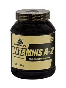 Peak VITAMINS A-Z – 180 Tabs á 750 mg – Net wt. 135g