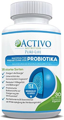 Probiotika 15x wirksamer als Kapseln durch patentierten Perlen mit Freigabezeit - die besten Probiotikum darmsanierung - gesunden Verdauung, Immunität, Energie, Stimmung und Konzentration - 30 Pearls