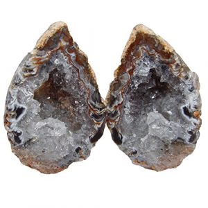 Achat Geode PAAR aufgeschnitten, poliert A* Qualität Größe *S* ca. 30 – 40 mm