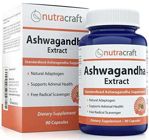 #1 Ashwagandha Ergänzungsmittel - 900mg standardisierter Extrakt pro Portion, um eine ausgewogene Antwort auf Angst und adrenale Gesundheit zu geben – Hergestellt in den USA - 90 Kapseln.