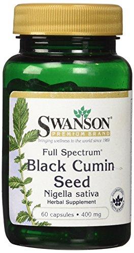 Swanson - Echte Schwarzkümmel Samen (Nigella Sativa) 400mg, 60 Kapseln - Reich an Omega 6-9, Natürliches Essentiellen Fettsäuren, Vitamin E (Full Spectrum® Black Cumin Seed capsules)