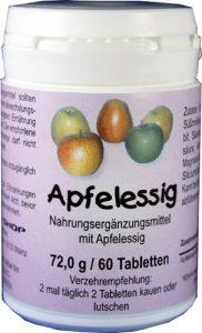 Apfelessig Tabletten 60 Stück – Entschlackung, Gewichtskontrolle, Verdauung