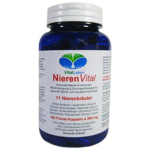Nieren Vital, 11 Nierenkräuter, 180 Pulver-Kapseln a 380mg, #25486