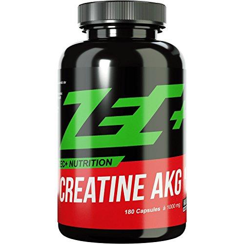 ZEC+ CREATIN AKG   optimale Creatine Verbindung   größerer ATP-Speicher   Muskelwachstum   optimale Aufnahme   keine Wassereinlagerungen   perfekt für Low Carb Diäten   180 Kapseln