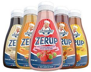 Frankys Bakery ZerUP -Amerikanischer Sirup Dessersauce Diät Ernährung Kalorienarm(Karamell -Caramel) 425ml