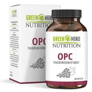 Premium OPC Traubenkernextrakt – 600 mg Traubenkernextrakt = 240 mg reines OPC – nur eine Kapsel pro Tagesdosis – vegan – 3 Monate Vorrat vom deutschen Hersteller Green Mind Nutrition
