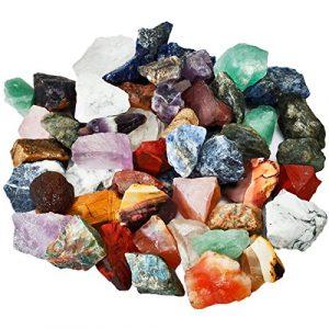 Shanxing Mischung Steine Rohsteine Edelsteine Wassersteine Dekoration Stein für Reiki Kristall Heilung ca.30-70mm,460 Gramm