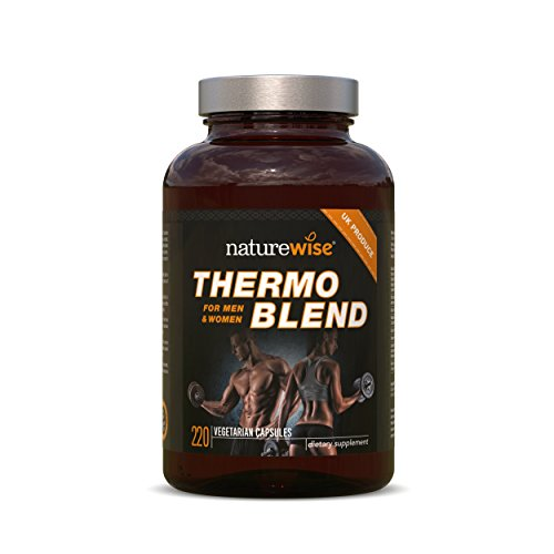 Fatburner Thermo Blend | NEUE FORTGESCHRITTENE FORMEL | Thermogener Fatburner für Gewichtsverlust und natürliche Energie | (220 vegetarische Kapseln)