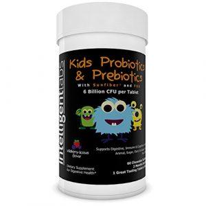 ★ 6 Milliarden KBE/CFU Probiotikum mit Präbiotika für Kinder ★ Enthält Präbiotika (Sunfiber® & Fos) für 10x bessere Wirkung ? Geeignet für Kleinkinder und Säuglinge ★ Kaubares Probiotikum ★ Nur 1 Tablette/Tag ★ Kinder lieben den Geschmack ★ 2 Monate Vorrat pro Flasche ★