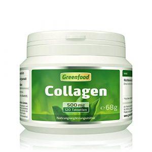 Collagen, 500 mg, hochdosiert, 120 Tabletten – reduziert die Faltenbildung, erhöht den Feuchtigkeitsgehalt der Haut. OHNE künstliche Zusätze, ohne Gentechnik.