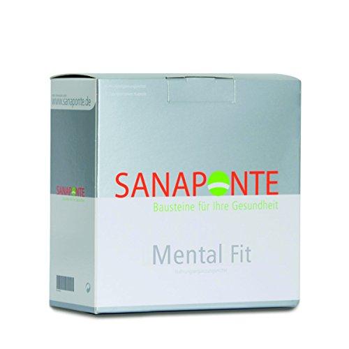 SANAPONTE Mental Fit – Nahrungsergänzungsmittel - Mentale Staerke - hochdosierte Aminosäuren, Vitamine (Vitamin C Kapseln, Folsäure, Vitamin B1, Vitamin B2, Vitamin B6, Vitamin B12), Mineralstoffe (Zink, Magnesium, Selen, Chrom), Spurelemente,Omega 3, Aminosäuren (Arginin, Phenylalanin, Tyrosin, Ornithin) Burnout, Burn Out, Stress & innerer Unruhe, positives denken