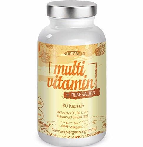 Multivitamin Tabletten hochdosiert A-Z Komplex - 23 Vitamine + Mineralien - Monatskur zur Stärkung vom Immunsystem und Wohlbefinden – vegan multimineral Kapseln als Nahrungsergänzung