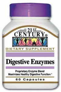 21st Century Health Care, Verdauungsenzyme mit Protease, Amylase, Lipase, Cellulase x60caps – Digestive Enzymes