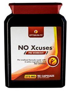 Kapseln mit Kreatin für die Zeit vor dem Workout – Koffeinfreies Ergänzungsmittel – 50% extra KOSTENLOS (90 Tabletten für den Preis von 60) – Geld-zurück-Garantie NO Xcuses