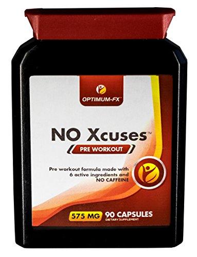 Kapseln mit Kreatin für die Zeit vor dem Workout - Koffeinfreies Ergänzungsmittel - 50% extra KOSTENLOS (90 Tabletten für den Preis von 60) - Geld-zurück-Garantie NO Xcuses