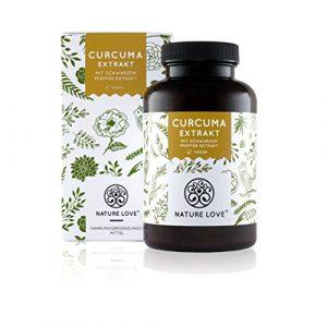 Curcuma (Kurkuma) Extrakt – 180 Kapseln. Kurkuma Pulver & Curcumin Extrakt 95% (entspricht ca. 20.000mg) pro Tagesdosis. Laborgeprüft, vegan, hergestellt in Deutschland
