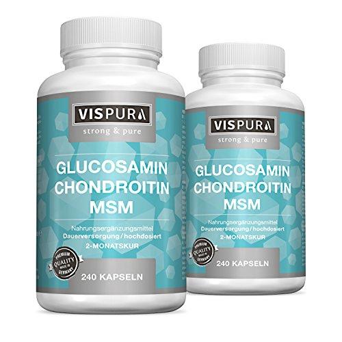 2 Dosen VITAL-Komplex mit Glucosamin Chondroitin MSM 2x 240 Kapseln für je 2 Monate mit Vitamin C Qualitätsprodukt-Made-in-Germany und 30 Tage kostenlose Rücknahme!