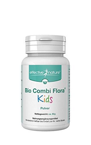 effective nature Bio Combi Flora Kids Pulver - 50g - Zur Bereicherung der Darmflora - Probiotika für Kinder - Besonders einfache Einnahme