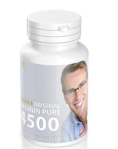 Naturtotal Arginin Pure 4500 Hochdosiert 180 Tabletten - Vegan