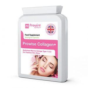 Pure Marine Collagen Kapseln 60 x 600mg – Hydrolysiert Typ 1 & Typ 2 Kollagen – Hochfeste Hautpflege & Gelenkgesundheitsergänzung – UK Made Premium Qualität