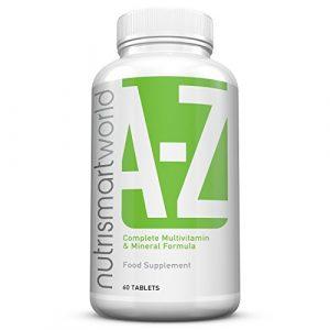 Vitamine und Mineralien – A – Z Komplett Formel – 27 Vitamine und mineralstoffe – 60 Tabletten – 2 Monate Versorgung – Nahrungsergänzungsmittel von Nutrismartworld
