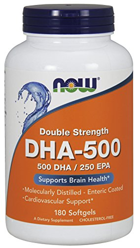 Now Foods, DHA-500, Double Strength, 180 Weichkapseln