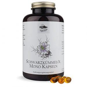 Schwarzkümmelöl Kapseln • 1000 mg pro Portion • kaltgepresst • ägyptisch • naturbelassen • mit Vitamin E • 400 Kapseln (6,5 Monatsvorrat) • Deutsche Premium Qualität • Kräuterhandel Sankt Anton