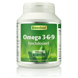 Omega 3-6-9, 700 mg, hochdosiert, 120 Softgel-Kapseln – gut für Herz, Kreislauf und die Cholesterinwerte. Fördert die geistige Leistungsfähigkeit. OHNE künstliche Zusätze. Ohne Gentechnik.