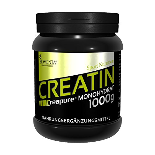 Creapure KREATIN PULVER 1000g | Deutsche Qualität | VEGAN | Für den Kraftsport als Muskelaufbau Pulver | BIOMENTA Creatin Monohydrat / Kreatin Monohydrat