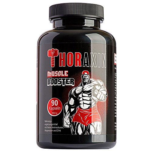 ThoraXin Muskelaufbau Kapseln - Extrem schnelle Zunahme der Muskeln - Enorme Muskelzunahme bei gleichem Workout