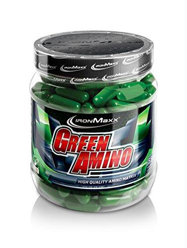 IronMaxx Green Amino / Aminosäuren / Proteinpulver in Kapselform / 1 x 550 Kapseln (374,8g)